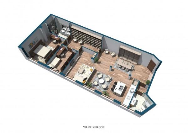 Appartamento in vendita a Milano, Washington, Con giardino, 145 mq