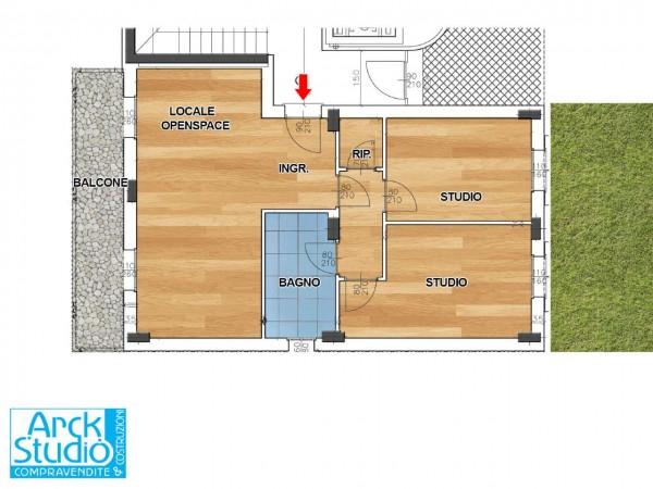 Ufficio in vendita a Inzago, Centro, 93 mq - Foto 1