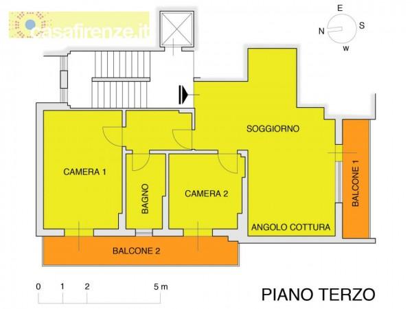 Appartamento in vendita a Firenze, Con giardino, 76 mq - Foto 3