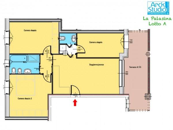 Appartamento in vendita a Cassano d'Adda, Naviglio Martesana, 97 mq