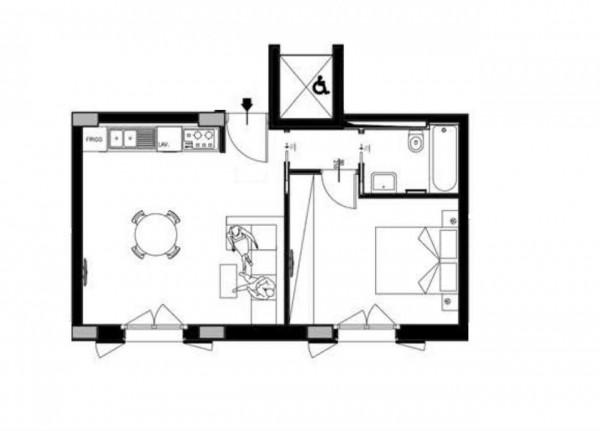 Appartamento in vendita a Roma, Casal Bertone, 49 mq
