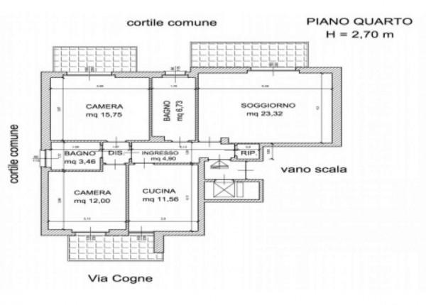 Appartamento in vendita a Torino, Rebaudengo, Con giardino, 102 mq - Foto 2
