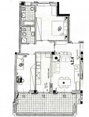 Appartamento in vendita a Peschiera Borromeo, Con giardino, 106 mq