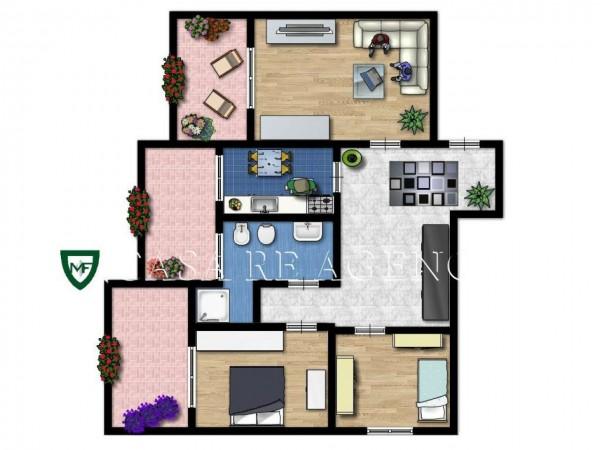 Appartamento in vendita a Varese, Biumo Superiore, Arredato, con giardino, 100 mq - Foto 2