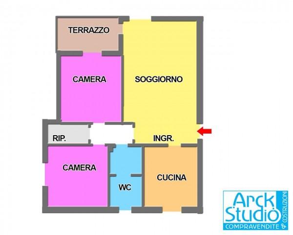 Appartamento in vendita a Cassano d'Adda, Annunciazione, Con giardino, 108 mq - Foto 4