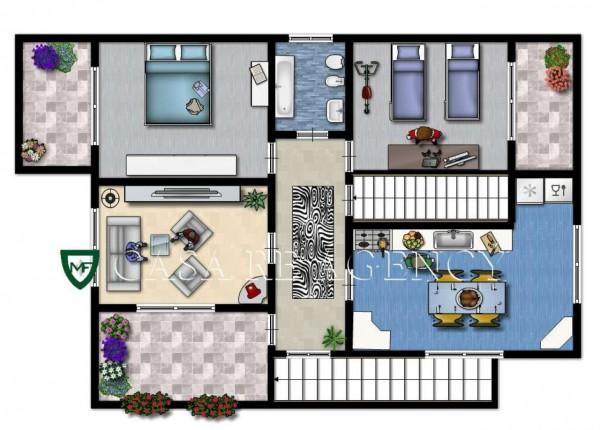 Villa in vendita a Induno Olona, Con giardino, 266 mq - Foto 4