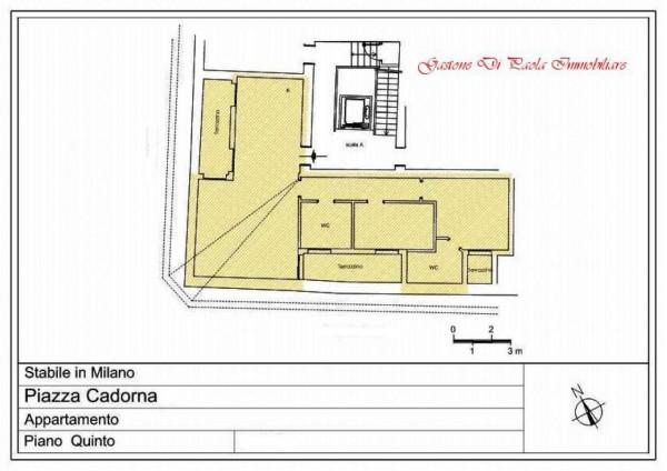 Appartamento in affitto a Milano, Piazza Cadorna, Con giardino, 140 mq - Foto 2