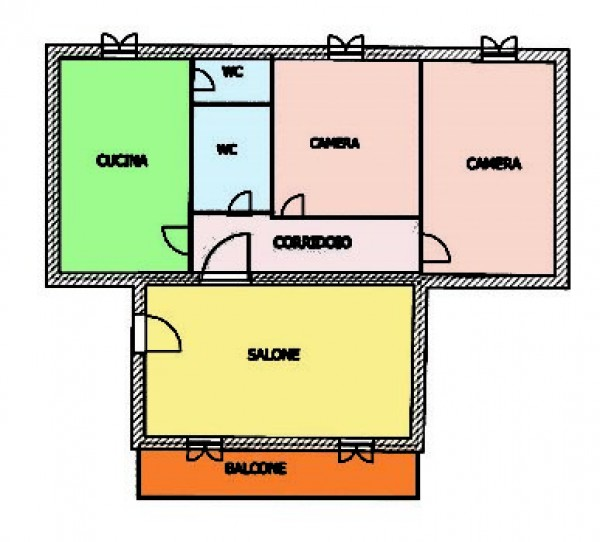 Appartamento in vendita a Napoli, Fuorigrotta, 90 mq