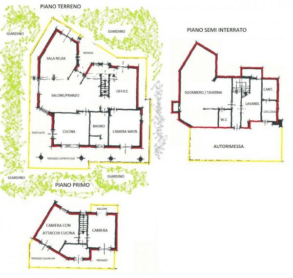Villa in vendita a Alpignano, Confine Rivoli, Con giardino, 219 mq - Foto 26