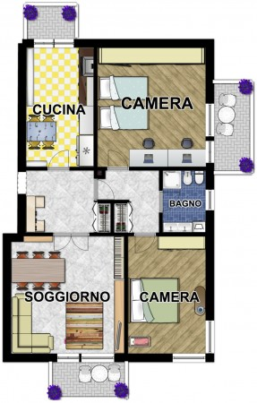 Appartamento in affitto a Lavagna, Centro, 100 mq
