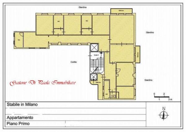 Appartamento in affitto a Milano, Centro Storico, Con giardino, 211 mq - Foto 3