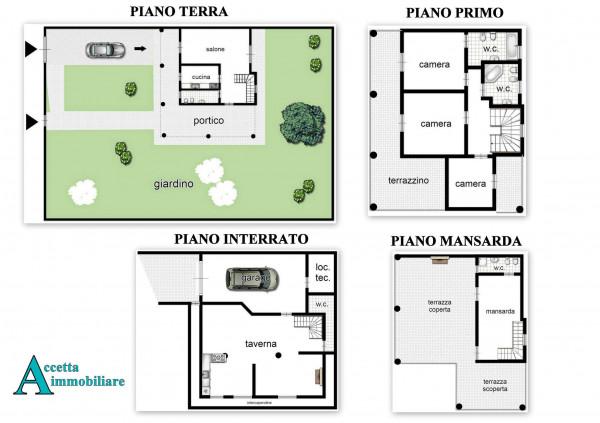 Villa in vendita a Taranto, Residenziale, Con giardino, 238 mq - Foto 2