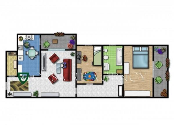 Appartamento in vendita a Varese, Aguggiari, Con giardino, 119 mq - Foto 2