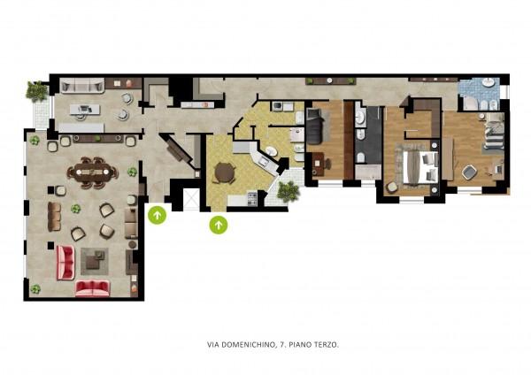 Appartamento in vendita a Milano, Amendola, 230 mq - Foto 2