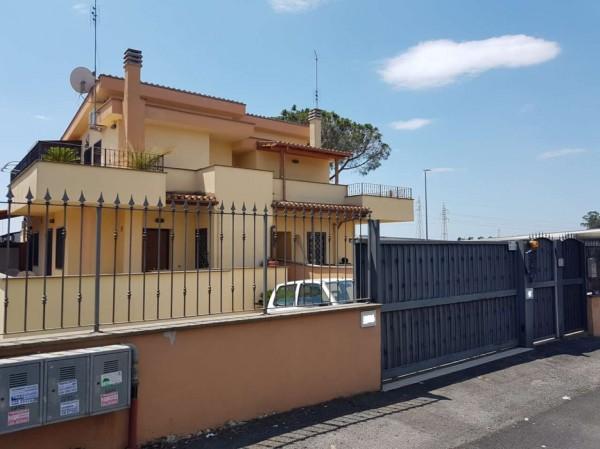 Villa in vendita a Roma, Casal Lumbroso, Con giardino, 160 mq