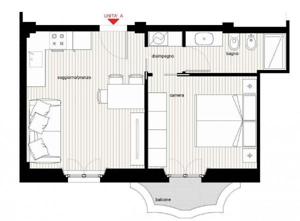 Appartamento in vendita a Milano, Caiazzo, 51 mq