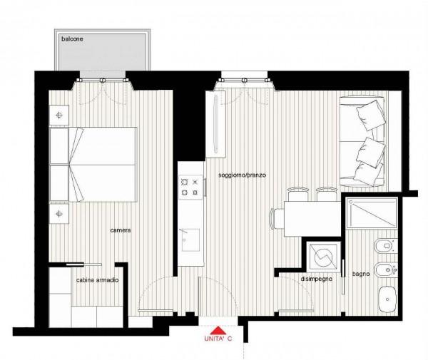 Appartamento in vendita a Milano, Caiazzo, 58 mq