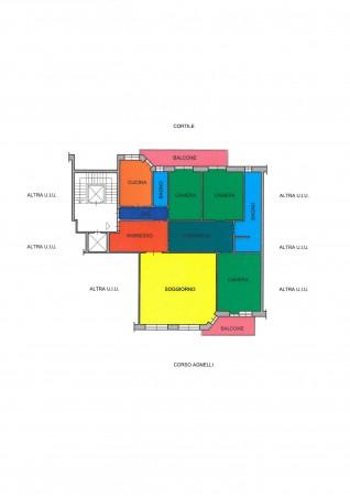 Appartamento in vendita a Torino, Santa Rita - Vicinanze Stadio Olimpico, Con giardino, 172 mq - Foto 3