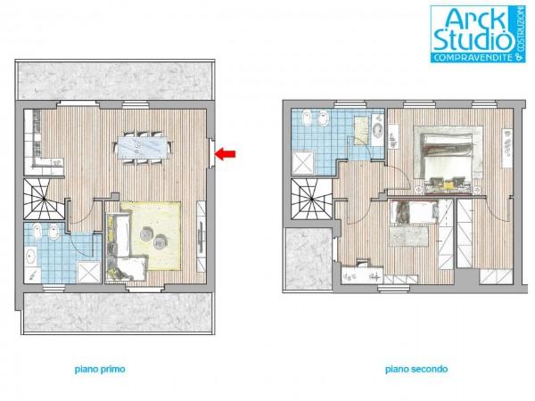 Appartamento in vendita a Cassano d'Adda, Stazione, 120 mq - Foto 2