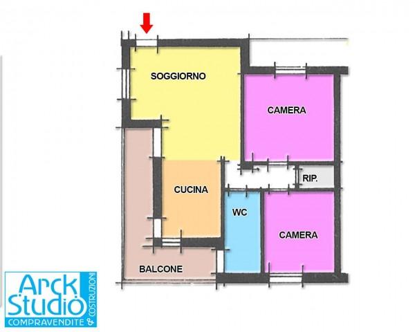 Appartamento in vendita a Cassano d'Adda, Con giardino, 90 mq - Foto 22