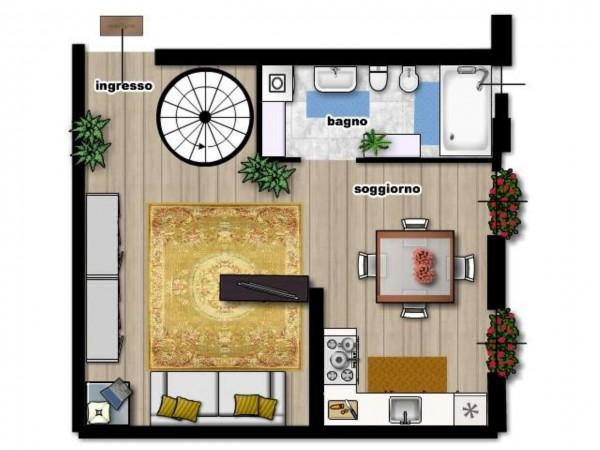 Appartamento in vendita a Milano, Città Studi, Con giardino, 55 mq