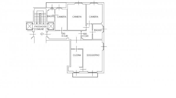 Appartamento in vendita a Milano, San Siro, Con giardino, 140 mq - Foto 32