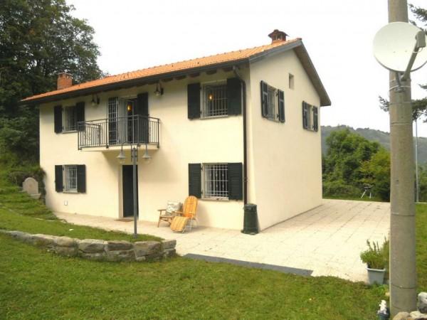 Villa in vendita a Borzonasca, Acero, Arredato, con giardino, 170 mq