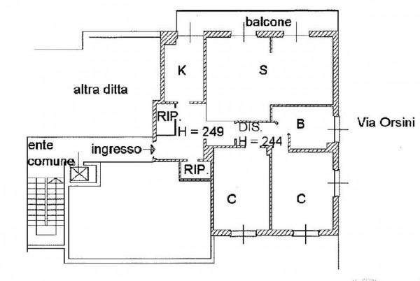 Appartamento in vendita a Milano, Bande Nere, Con giardino, 112 mq - Foto 3