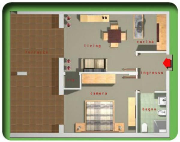 Appartamento in affitto a Taranto, Residenziale, Arredato, con giardino, 55 mq - Foto 2