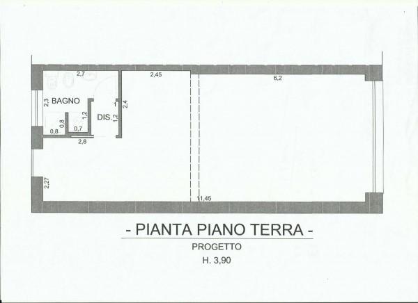 Negozio in affitto a Cesate, Con giardino, 64 mq