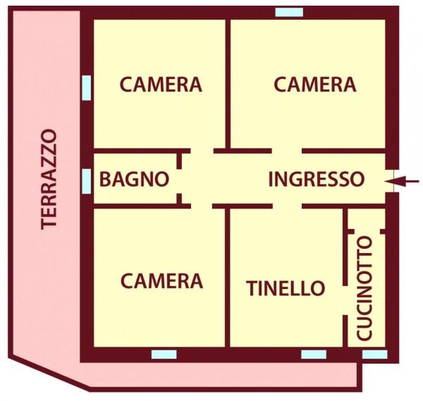 Appartamento in affitto a Bologna, Saffi, Arredato, 90 mq