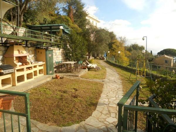 Appartamento in vendita a Santa Margherita Ligure, Prima Collina, Con giardino, 110 mq