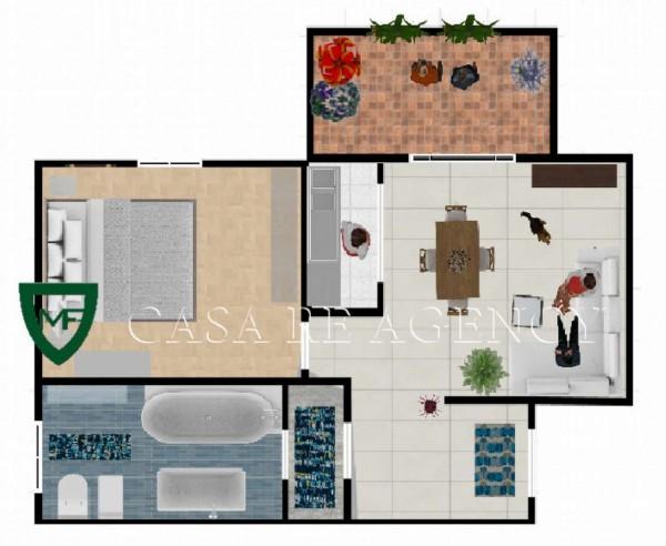 Appartamento in vendita a Induno Olona, Arredato, con giardino, 55 mq - Foto 2