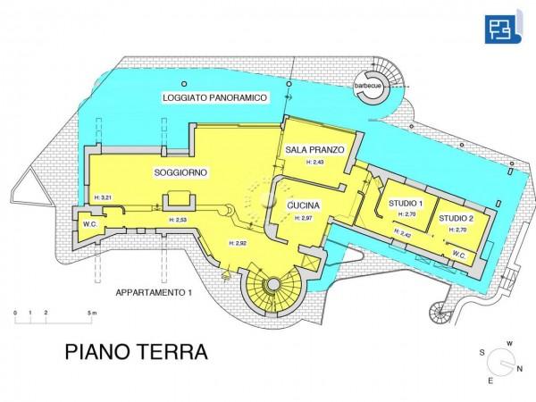 Villa in vendita a Firenze, Con giardino, 380 mq - Foto 4