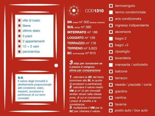 Villa in vendita a Firenze, Con giardino, 380 mq - Foto 66
