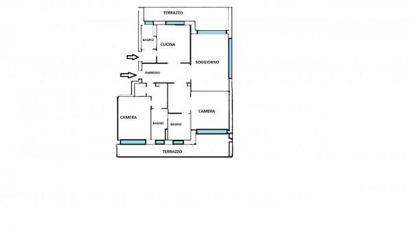 Appartamento in vendita a Milano, Con giardino, 160 mq - Foto 40