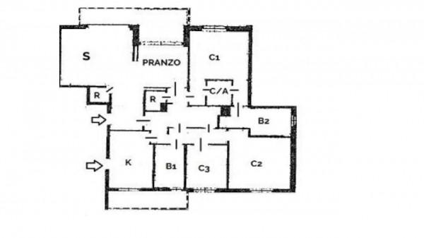 Appartamento in vendita a Milano, Con giardino, 145 mq - Foto 42