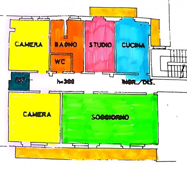 Appartamento in vendita a Varese, Centro Città Vicinanze Tribunale, Con giardino, 145 mq - Foto 3