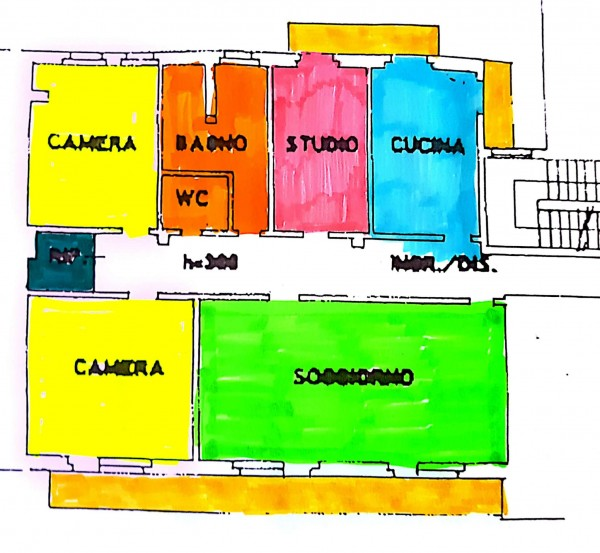 Appartamento in vendita a Varese, Centro Città Vicinanze Tribunale, Con giardino, 145 mq - Foto 2