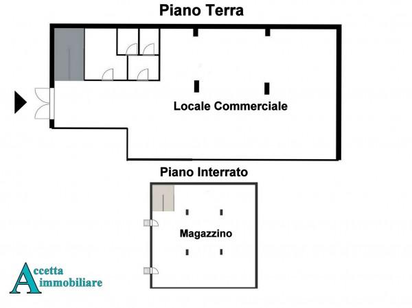 Locale Commerciale  in vendita a Taranto, Semicentrale, 460 mq - Foto 3