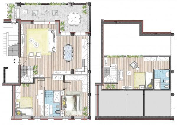 Appartamento in vendita a Cassano d'Adda, Naviglio Martesana, 145 mq