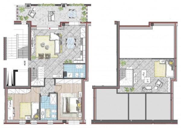 Appartamento in vendita a Cassano d'Adda, Naviglio Martesana, Con giardino, 123 mq