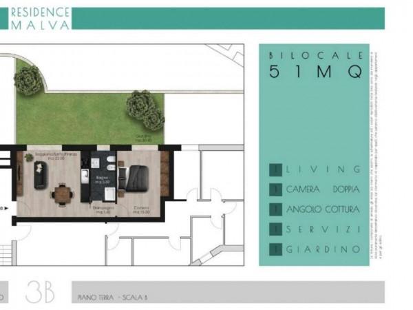 Appartamento in vendita a Roma, Appio Latino, Con giardino, 55 mq