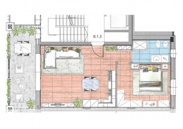 Appartamento in vendita a Cassano d'Adda, Naviglio, Con giardino, 71 mq