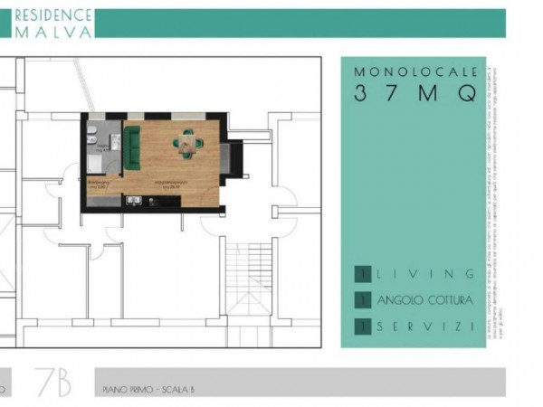 Appartamento in vendita a Roma, Appio Latino, Con giardino, 37 mq