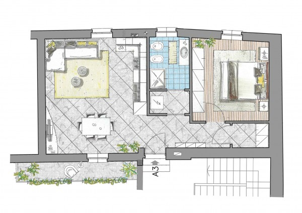 Casa indipendente in vendita a Inzago, Centro Storico, 74 mq