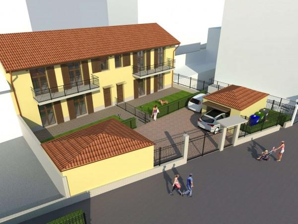 Villa in vendita a Vinovo, Centrale, Con giardino, 145 mq