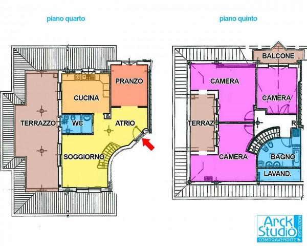Appartamento in vendita a Cassano d'Adda, Ospedale, Con giardino, 166 mq - Foto 2