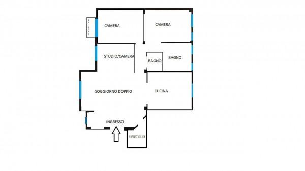 Appartamento in vendita a Milano, Con giardino, 160 mq - Foto 3
