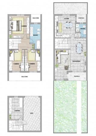 Villa in vendita a Cassano d'Adda, Cristo Risorto, Con giardino, 166 mq - Foto 2